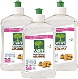 L'Arbre Vert-liquido in lavastoviglie, mandorla, 500 ml, lotto di 3