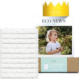 Eco by Naty, Taglia 3, 10 pannolini, 4-9kg, Pannolino eco premium a base vegetale con lo 0% di plastica sulla pelle
