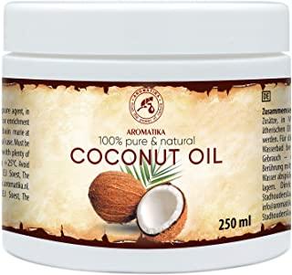Olio di Cocco 250ml - Cocos Nucifera - Indonesia - Non Purificato - Naturale e Puro al 100% - Pelle Morbida ed Elastica - Cura d