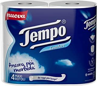 Tempo Carta Igienica Confort - 5 confezioni da 4 Maxi Rotoli (20 Maxi Rotoli totali)