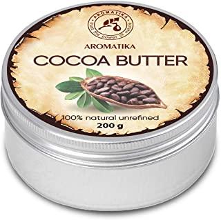 Burro di Cacao 200g - Theobroma Cacao (Cocoa) Seed Butter - Burkina Faso - Burro di Cacao non Raffinato e Puro al 100% - Idratan