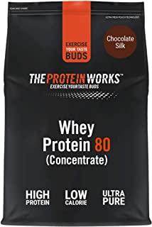 THE PROTEIN WORKS Proteine Whey 80 (Concentrate) In Polvere | 82% Di Proteine | Frullato Proteico Povero Di Zuccheri | Cioccolat