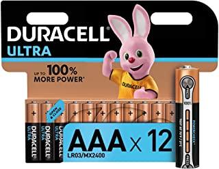 Duracell LR03 MN2400 Ultra AAA con Powercheck - Batterie Ministilo Alcaline, Confezione da 12 Pacco del Produttore, 1.5 V
