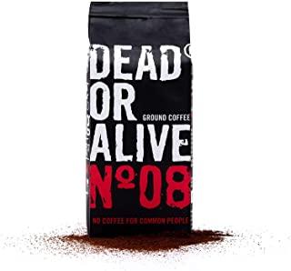 DEAD OR ALIVE Moka No08 - Caffe macinato 250g - Caffe moka forte e poco acido con carattere - Robusta pregiato con un po 'di chi
