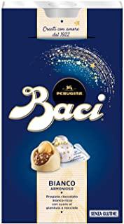 Perugina Baci Cioccolatini Bianchi Ripieni di Gianduia e Nocciola, 200g