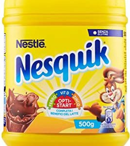 NESQUIK OPTI-START Cacao solubile per latte barattolo - 2 pezzi da 500 g [1 kg]