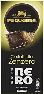 Perugina Nero Fondente Extra Zenzero Tavoletta di Cioccolato Fondente con Cristalli Allo Zenzero, 85g