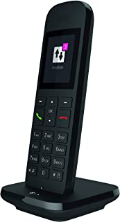 Deutsche Telekom Telefono Cordless con Interfaccia DECT-CAT-iq e Display a Colori da 5 cm, Colore Nero