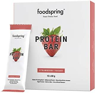 foodspring Barrette proteiche, Fragola Cheesecake, 12 x 60g, 33% di proteine, A ridotto contenuto di zuccheri, Perfette dopo l'a