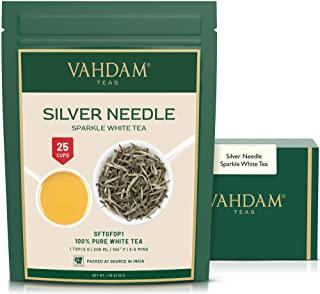 VAHDAM, foglia d'argento da te bianco (25 tazze) | foglie di te bianco 100% NATURALE | Brew come te caldo, te freddo o te Kombuc