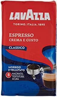Lavazza Caffe Macinato per Macchina Espresso Crema e Gusto Classico - 4 Confezioni da 250 gr [1 Kg]