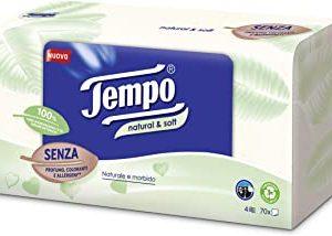 Tempo Fazzoletti in Box - 4 Veli Natural & Soft, 70 fazzoletti - 240 g