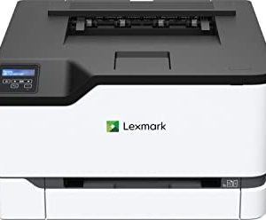 Lexmark C3224DW - Laser a colori (WLAN, LAN, fino a 22 ppm, stampa fronte-retro, colore: Nero-Grigio