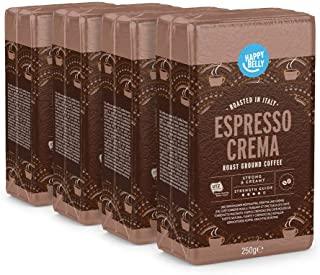 """Marchio Amazon - Happy Belly Caffe tostato macinato """"Espresso Crema"""" (4 x 250g)"""