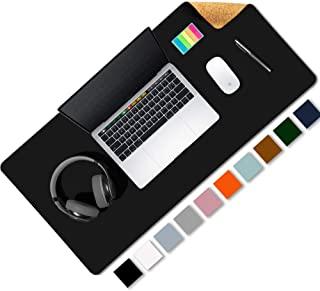 Aothia Tappetino per scrivania bifacciale ecologico in sughero e pelle 80 x 40 cm Tappetino per mouse Superficie liscia Morbida