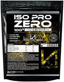 ISO PRO ZERO 1 Kg Proteine 100% Whey Isolate con Vb104 - K1 Nutrition SENZA GLUTINE, SENZA LATTOSIO, LOW SUGAR, (VANIGLIA)
