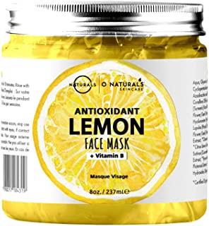 Maschera Purificante Idratante Gel Viso al Limone Anti-Age Acido Ialuronico Anti Imperfezioni Vegan Boost Collagene Ingredienti