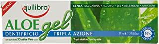 Equilibra Igiene Dentale, Aloe Gel Dentifricio Tripla Azione, Dentifricio Aloe Vera in Gel con Azione Lenitiva e Antisettica, Pr