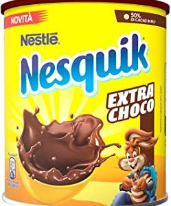 Nesquik Extra Choco Cacao Solubile per Latte 12 Barattoli da 390 g