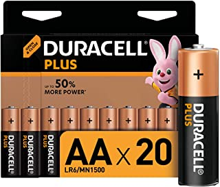 Duracell LR06 MX1500 Plus AA - Batterie Stilo Alcaline, Confezione da 20 Pacco del Produttore, 1.5V