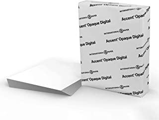 Accent bianco opaco, liscio, 80 lb, lettera, 8,5 x 11, 97 luminoso, 400 fogli, 1 risma, Made in USA