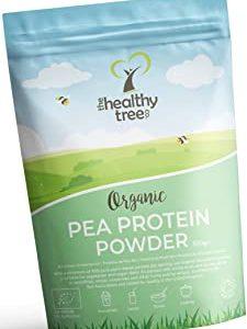 Polvere di Proteine del Pisello Bio di TheHealthyTree Company - 80% Europeo + Proteine Vegan, Alto Contenuto di Amminoacidi, Fer