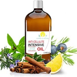 Olio Intensivo Anti cellulite Dimagrante 100% Naturale con Oli essenziali di limone, rosmarino, cannella, basilico e ginepro 500