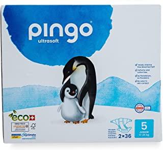 Pannolini ecologici pinguino taglia 5 Junior (12-25 kg) - scatola da 2 x 36