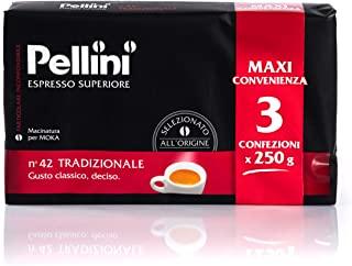 Pellini Caffe Espresso per Moka N. 42 Tradizionale, 3 x 250 g