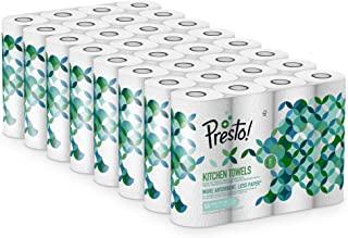 Marchio Amazon - Presto! Asciugatutto da cucina a 2 veli - Conf. da 32 rotoli (32 x 51 strappi)