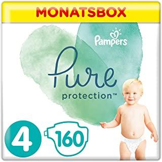 Pampers Pannolini Pure Protection, in confezione mensile (etichetta in lingua italiana non garantita)