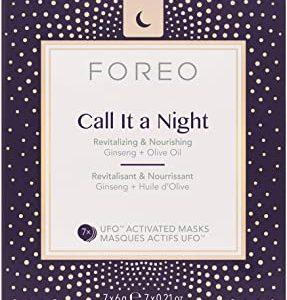 FOREO, Call It a Night Mask, Maschera attivabile UFO, 7 maschere da 6 grammi