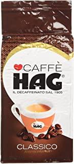 Hag - Caffe Macinato Decaffeinato Gusto Classico - Miscela Caffe per Moka - 16 Confezioni - Pacco da 250 gr