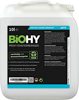 BiOHY Detergente per finestre professionale (Lattina da 10 litri) | Detergente per vetri concentrato, ideale per tutti i LAVAVET