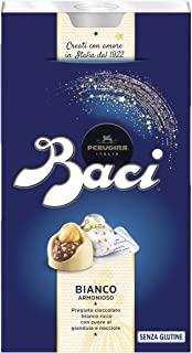 BACI PERUGINA BIANCO Cioccolatini al cioccolato bianco ripieno al gianduia e nocciola intera 200g [Confezione da 2]