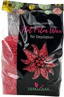 500g Dermawax Film Wax Rosa- Cera trasparente- ceretta senza strisce- depilazione ceretta per tutto il corpo- Ceretta brasiliana