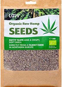 LOOV Semi integrali di canapa biologica, 1 kg, non trattati termicamente, tutti i nutrienti preservati, delizioso sapore di nocc
